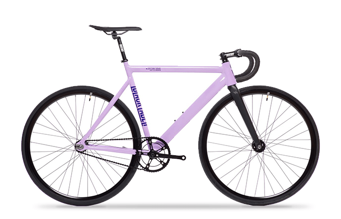 Das State Bicycle Black Label V2 in purple.