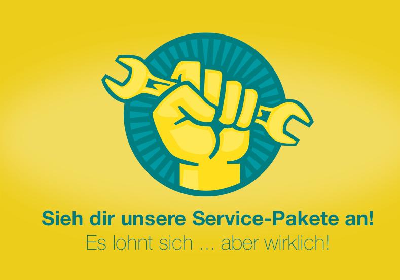 Unsere RadFreund-Service-Pakete lohnen sich! Die RadFreund Werkstatt repariert auch ohne Termin.