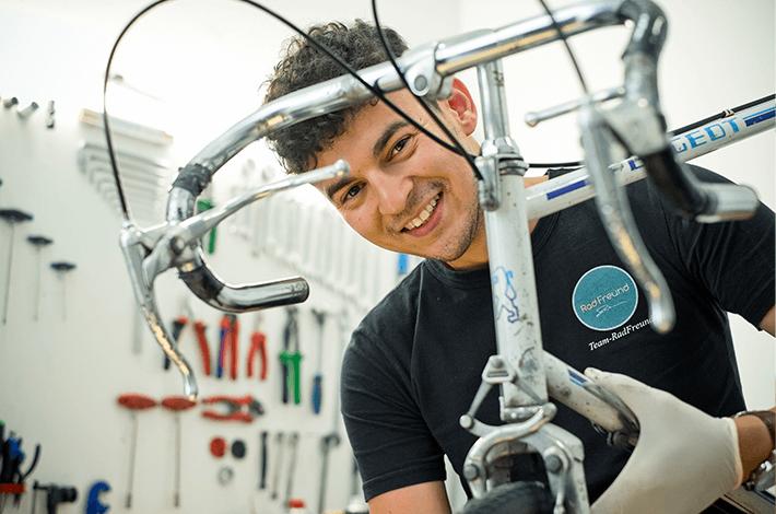 Rodrigo, bei ihm ist dein Fahrrad in guten Händen.
