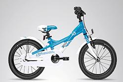 S´Cool XXlite 16, blau-weiß, schönes Kinderrad.