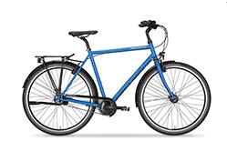 Unser RadFreund Trekking in azurblau metallic.