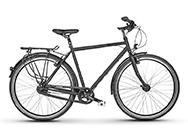 Unser RadFreund Trekkingrad in matt-schwarz.