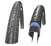 Das Reifen-Komplettpaket. Mit dem Marathon Plus von Schwalbe kommst du ohne Platten durch den Alltag.