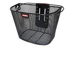 Der Klickfix Fahrradkorb wird am Lenker mit einer speziellen Halterung befestigt. So kannst du den Korb jederzeit abnehmen und mit zum Einkauf nehmen.