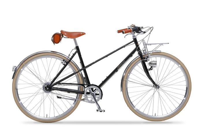 Das Greens Bike in schwarz ist ein klassisches Sportrad mit modernen Komponenten.