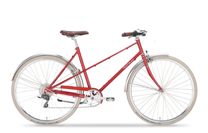 Das RadFreund Claris verbindet ein sportliches Vintagerad mit moderner 8 Gang Schaltung.