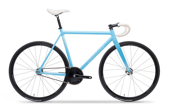 Das State Bicycle Black Undefeated Photon Blue Edition