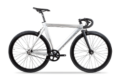 Das Brick Lane Bike Piovra - polished silver.
