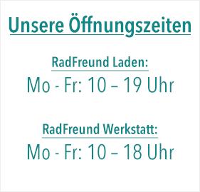 Die Öffnungszeiten vom Fahrradladen RadFreund in Leipzig.